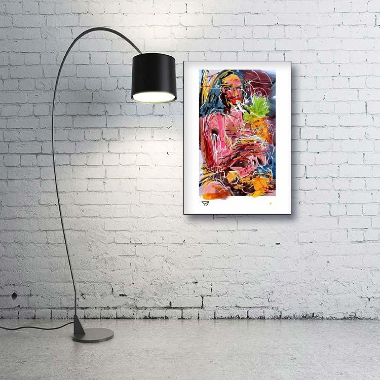 mongi-higggs-ananas-from-caracas-edition-70mal100cm-giclee-print-artist-kuenstler-kondum163-modern-art-gallery-roomed