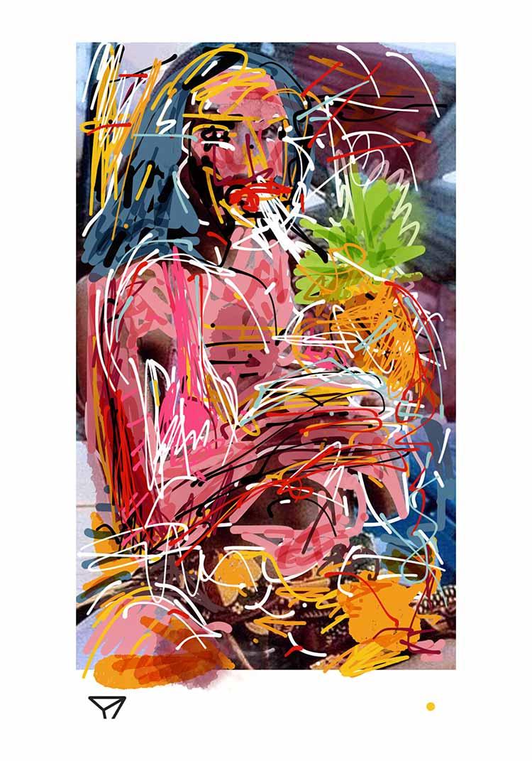 mongi-higggs-ananas-from-caracas-edition-70mal100cm-giclee-print-artist-kuenstler-kondum163-modern-art-gallery